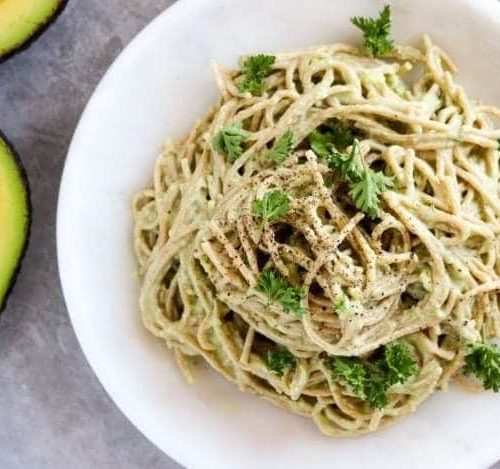 Avocado & Tofu Pasta (Oil-Free)