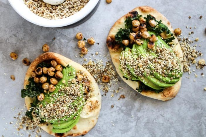 Naan Avocado Toast with Dukkah & Pan-Fried Chickpeas - Unsweetened Caroline-6-2