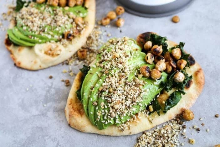 Naan Avocado Toast with Dukkah & Pan-Fried Chickpeas- Unsweetened Caroline-8