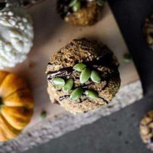 Spelt Oatmeal Pumpkin Cookies (Date-Sweetened!)