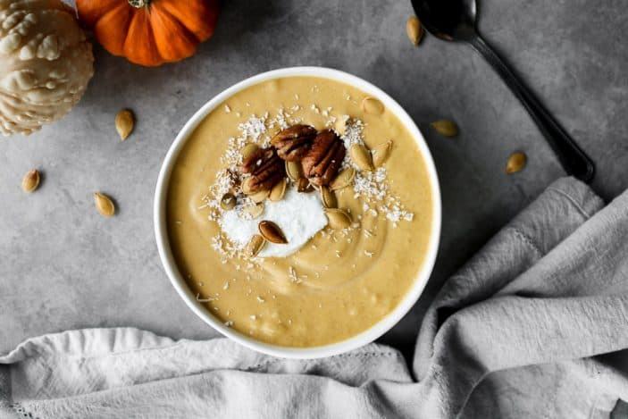 Pumpkin Pie Smoothie Bowl (No Added Sugar)