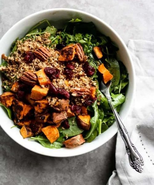 Sweet Potato & Toasted Bread Winter Salad