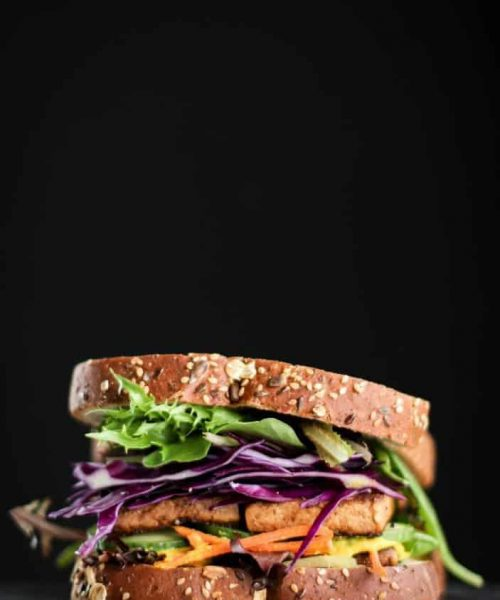 Marinated Tofu Sandwich