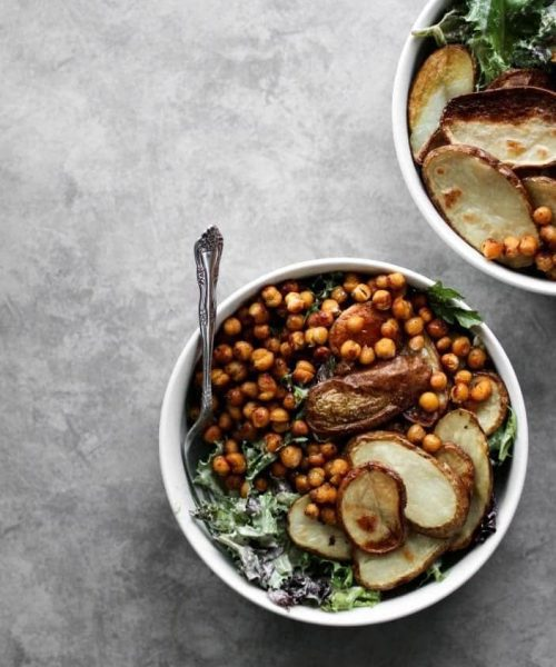 Roasted Potato & Chickpea Salad