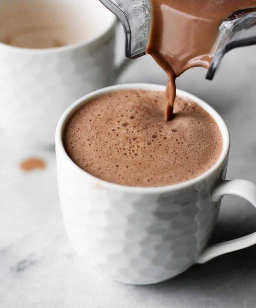 The Healthiest Peppermint Mocha Latte
