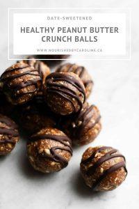 peanut butter crunch balls pin
