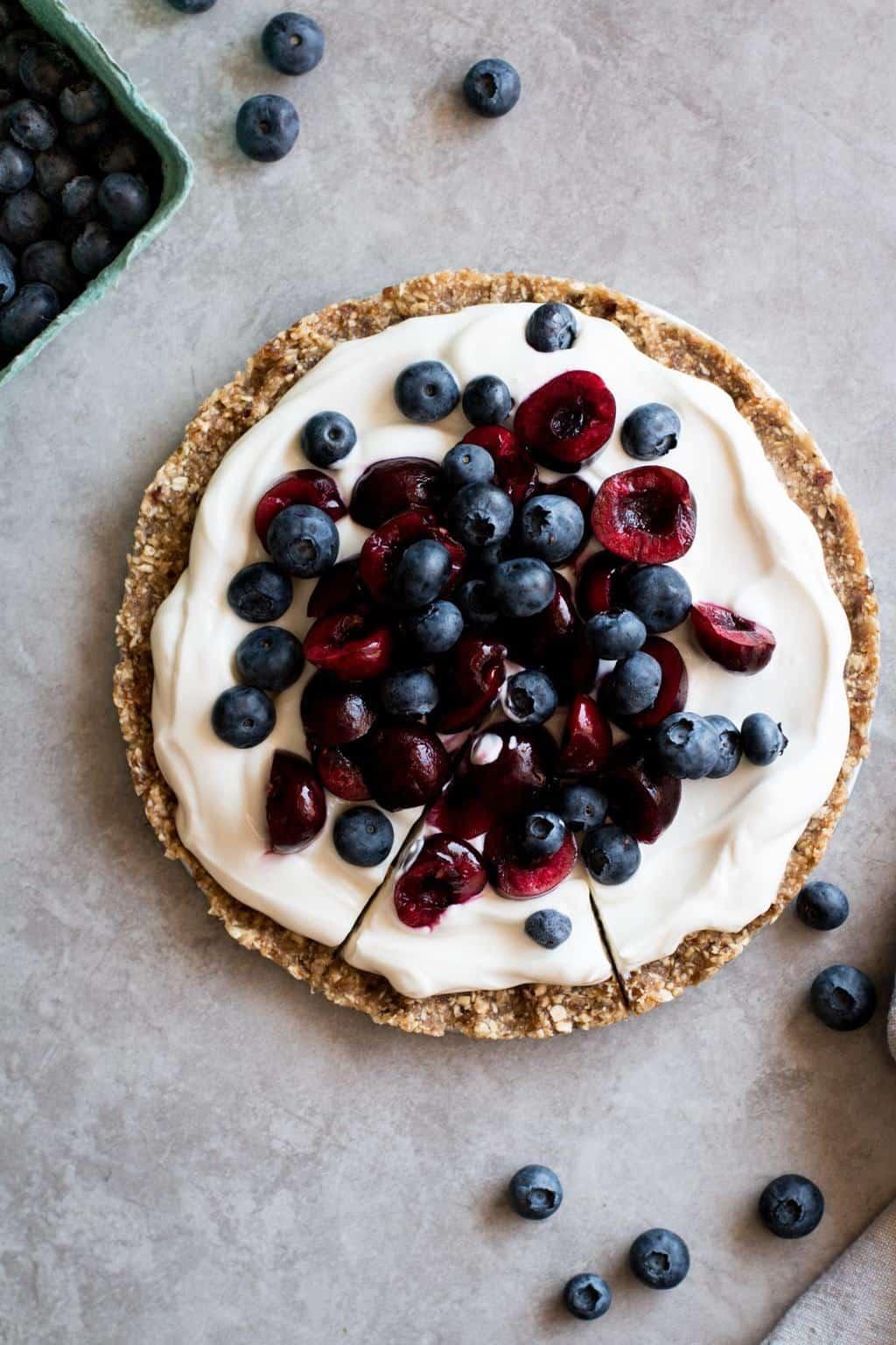 No-Bake Cherry Yogurt Tart