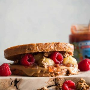 Epic Vegan French Toast PB&J Sandwich