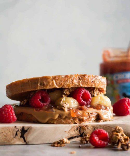 Epic Vegan French Toast PB&J Sandwich