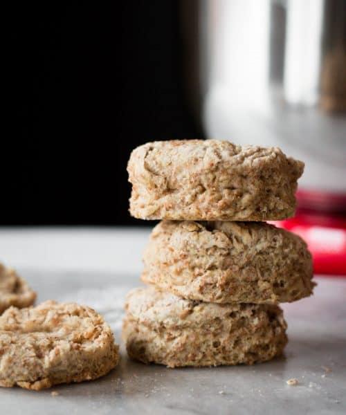 vegan biscuits stacked