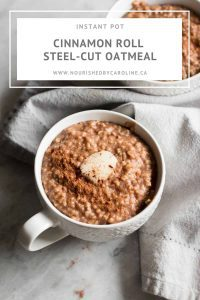 cinnamon roll oatmeal pin