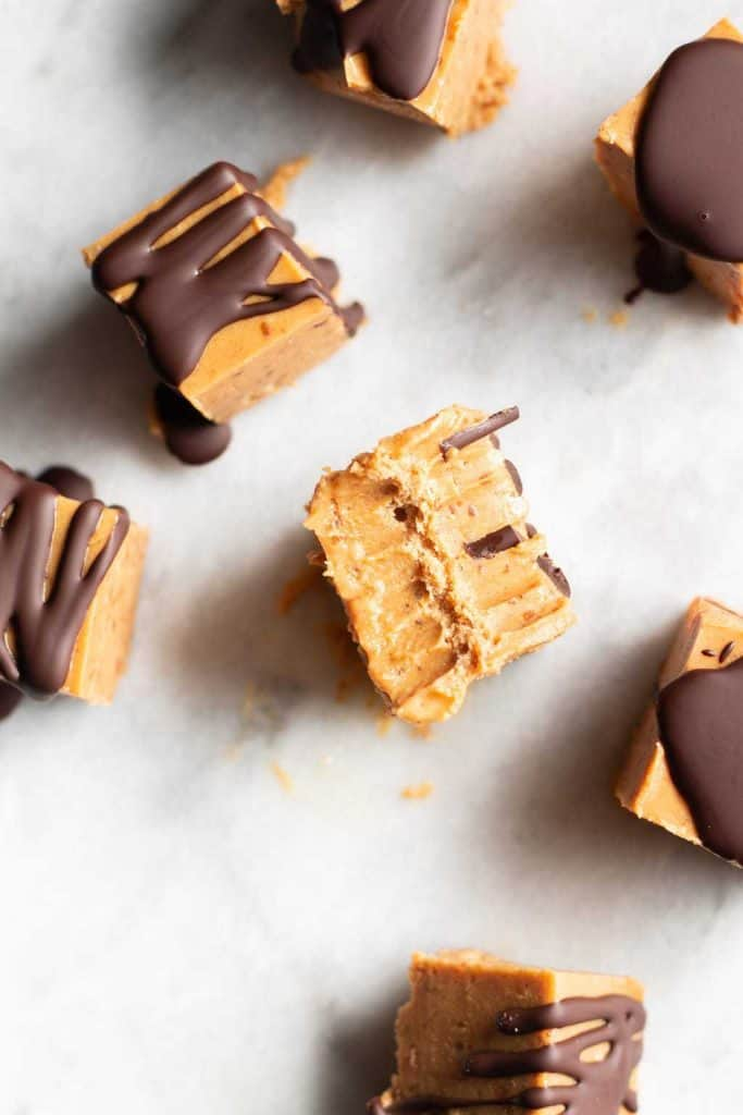 peanut butter fudge from the top