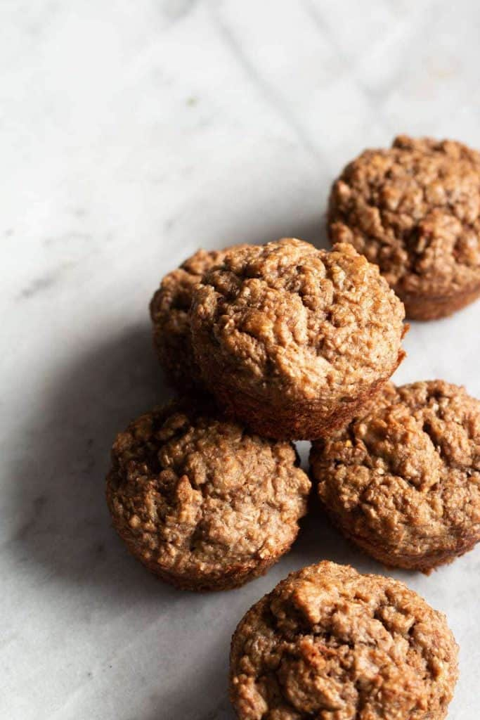 The Healthiest Banana Bran Muffins from the top