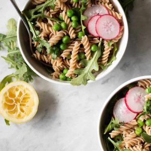 Spring Pea and Arugula Pasta Salad