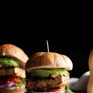 Tamari Almond Tempeh Burger