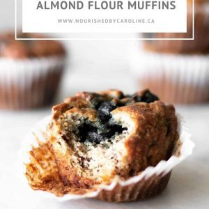 Blueberry Banana Almond Flour Muffins pin