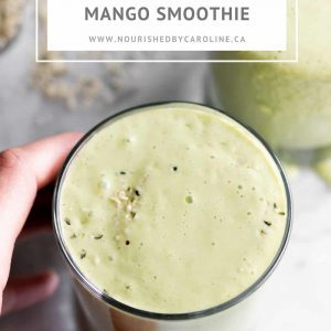 green mango smoothie pin