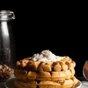 Pumpkin Chai Spiced Waffles