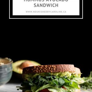 hummus avocado sandwich pin