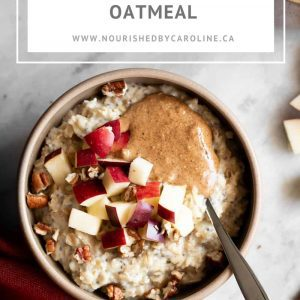 apple cinnamon oatmeal pin