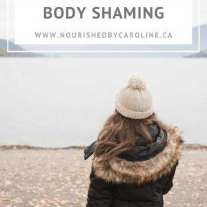 holiday food and body shaming pin