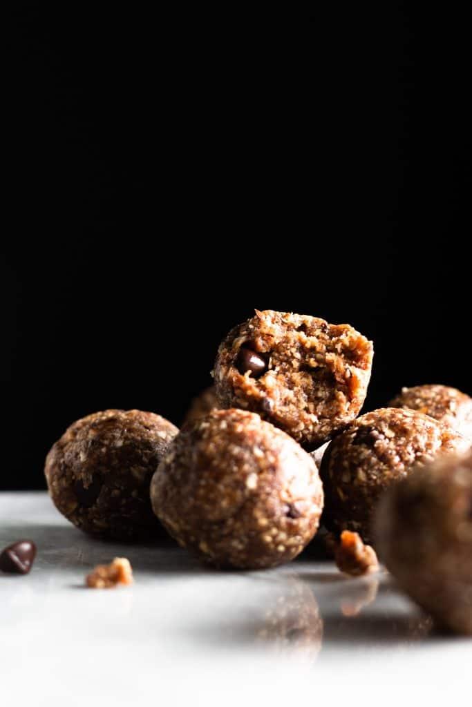Pecan Chocolate Chip Cookie Bites - no-bake desserts and snacks