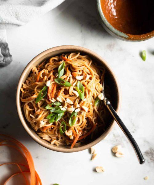 Peanut Ramen Noodles