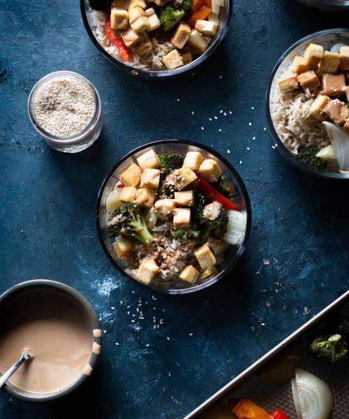 sesame tofu bowls