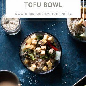 sesame tofu bowl pin