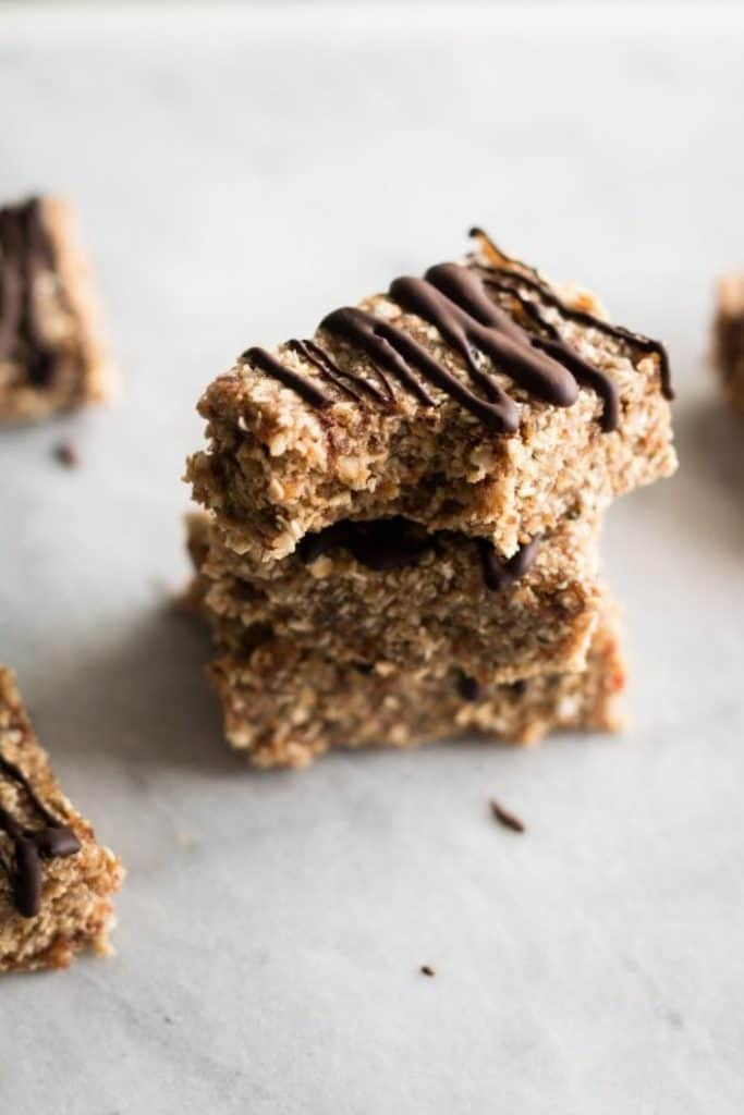 granola bars stacked