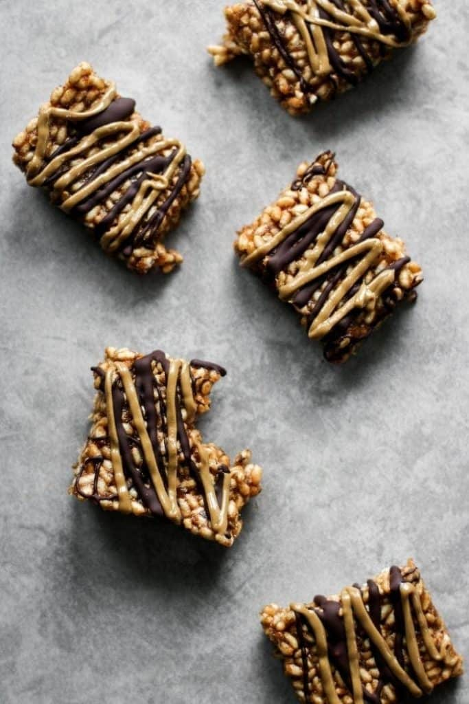 rice crispy squares from the top
