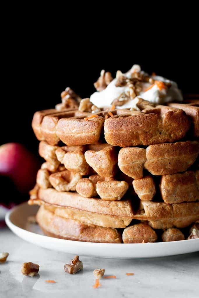 waffles stacked
