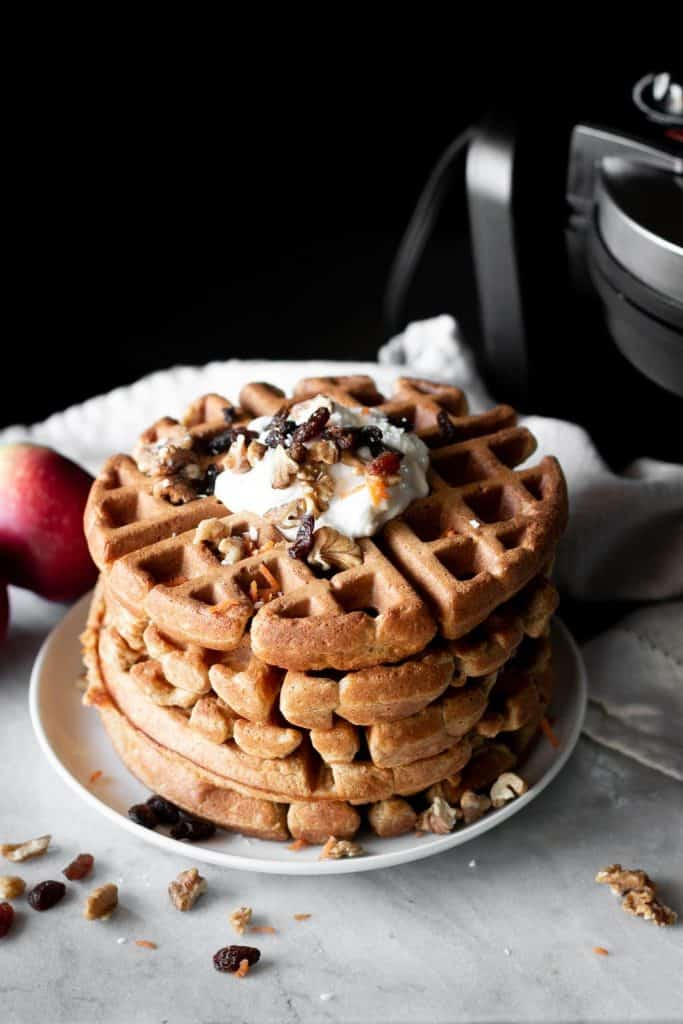 waffles in a stack