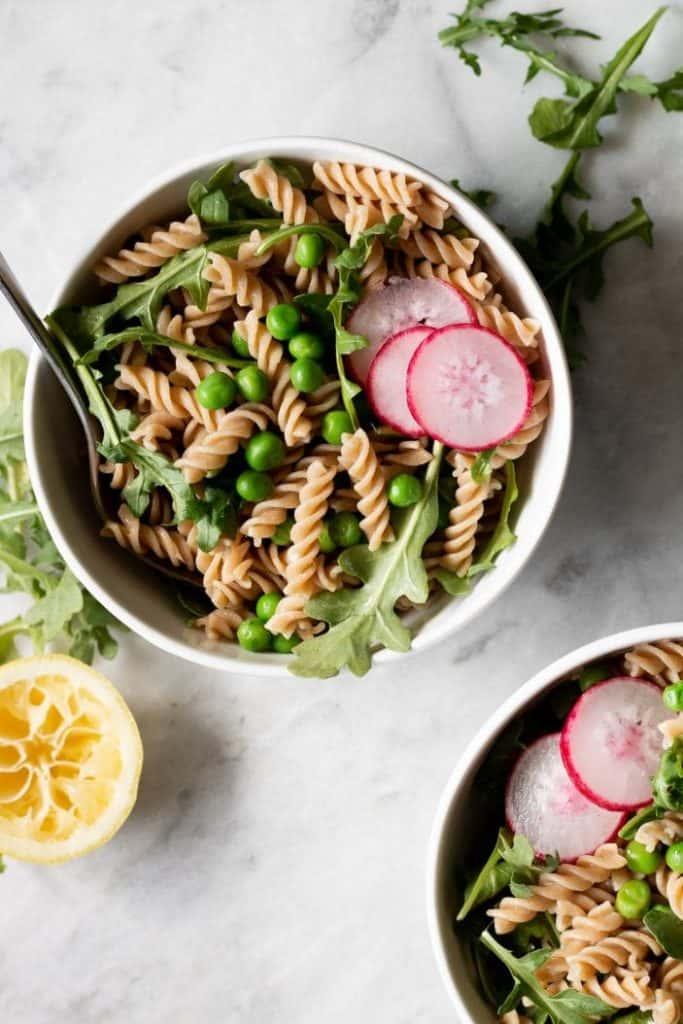 quick vegan meals - pasta salad