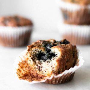 blueberry banana almond flour muffin