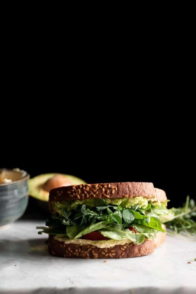 quick vegan meals - sandwich