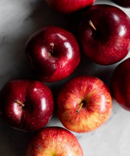 red apples from the top