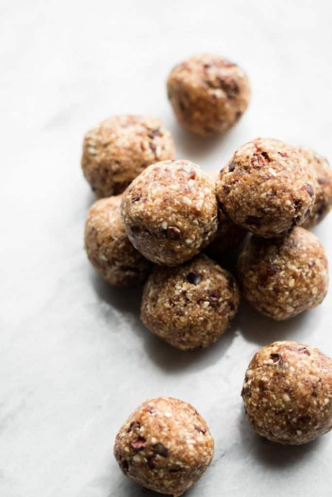 cookie dough bites in a pile
