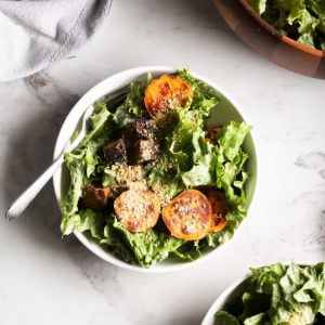 Caesar salad in bowls