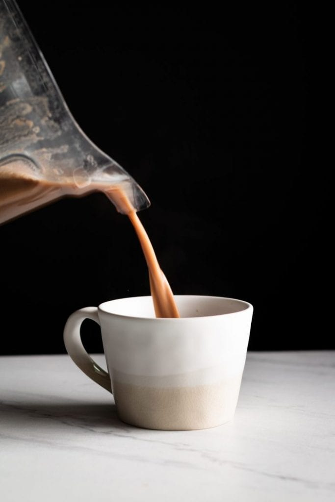blender hot cocoa pour shot