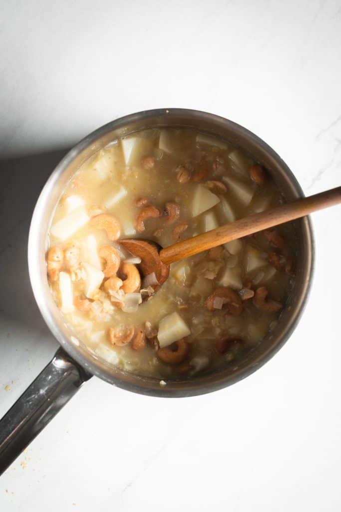 ingredients in saucepan