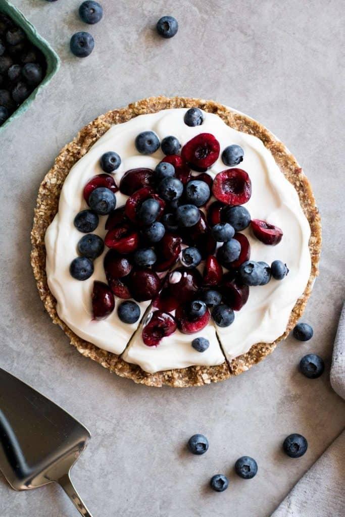 yogurt tart with berries