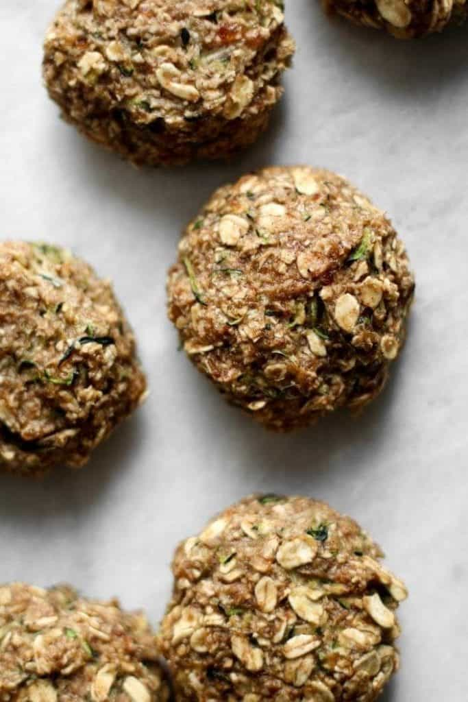 zucchini cookies from the top