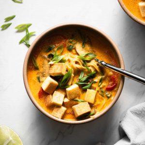 curry ramen in a bowl