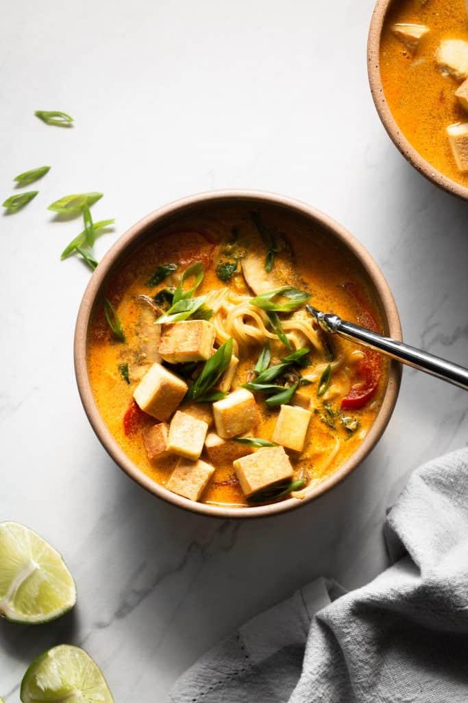 curry ramen in bowl