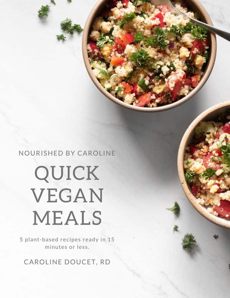 quick vegan meals eBook