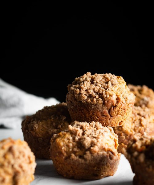 maple carrot muffins from the side