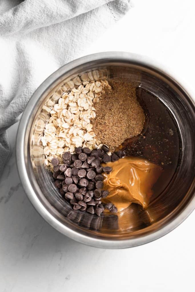 energy bite ingredients in a bowl