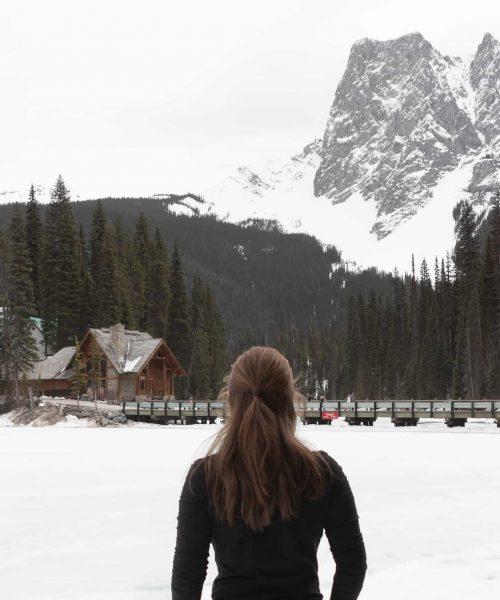 girl enjoying exercise in mountains