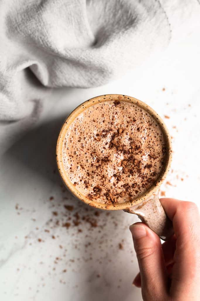 Vegan Salted Maple Hot Cocoa